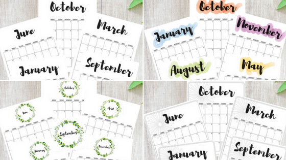 photograph relating to Free Printable Designs titled 2018 Calendars: Free of charge Printables! - Quickly September